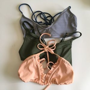 Bundle of 3 Bikini Tops VS, LA Hearts Woman's